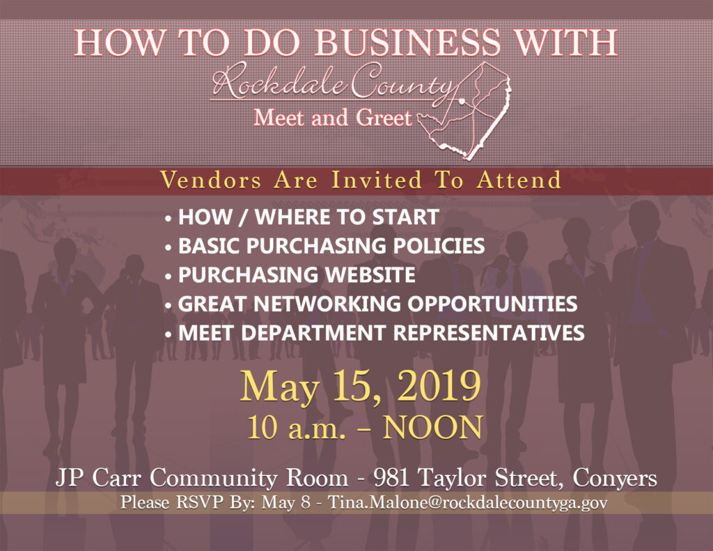How to Do Business With Rockdale County @ J.P. Carr Community Room