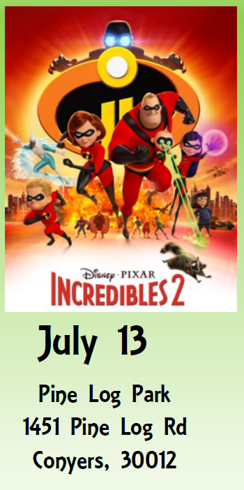 Sunset Cinema - The Incredibles 2 @ Pine Log Park