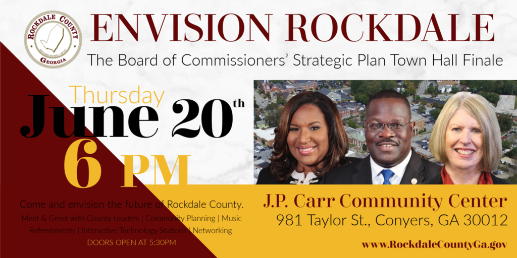 Envision Rockdale Strategic Plan Town Hall Finale @ J.P. Carr Community Center