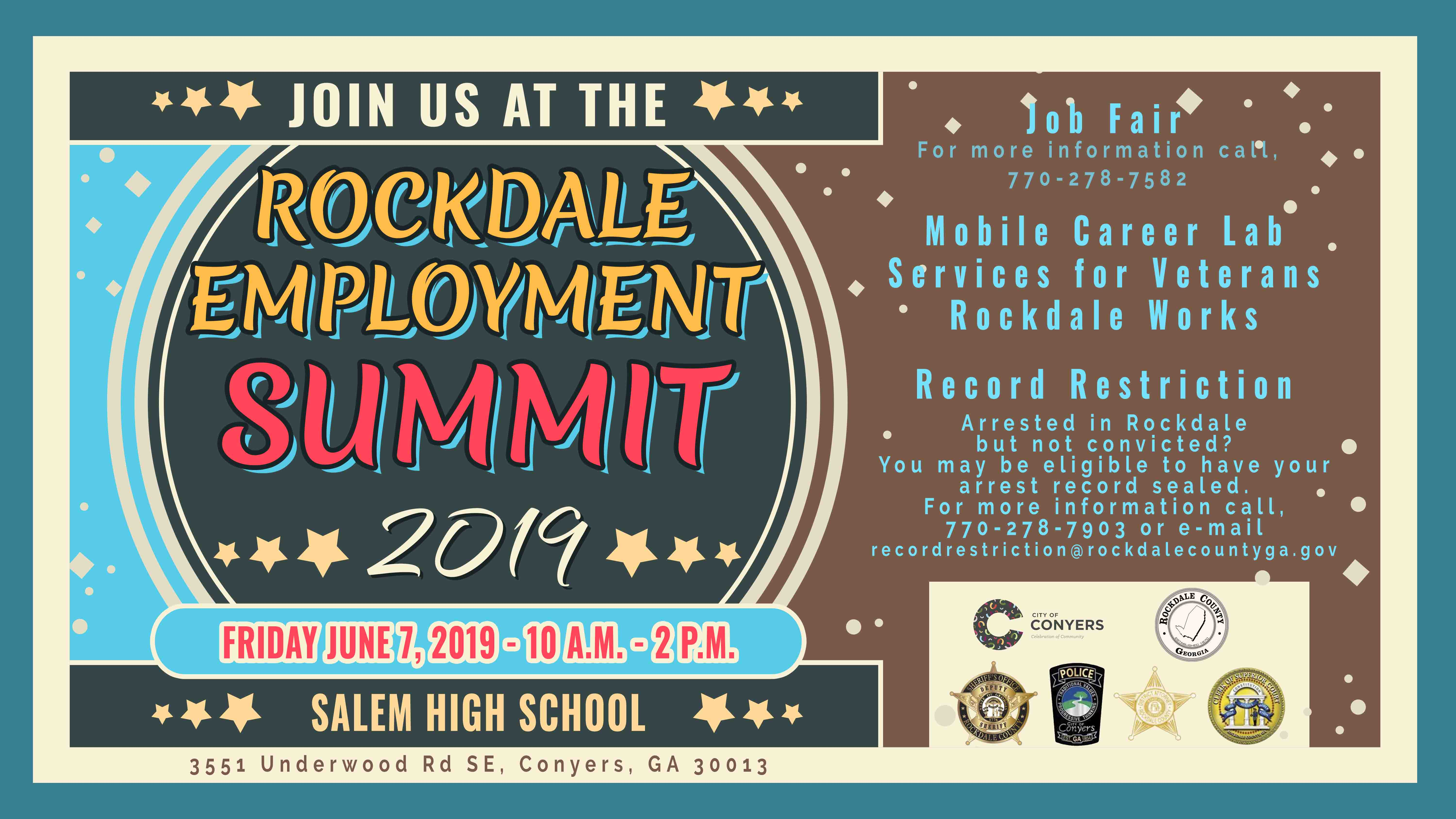 2019 Rockdale Employment Summit @ Salem High School