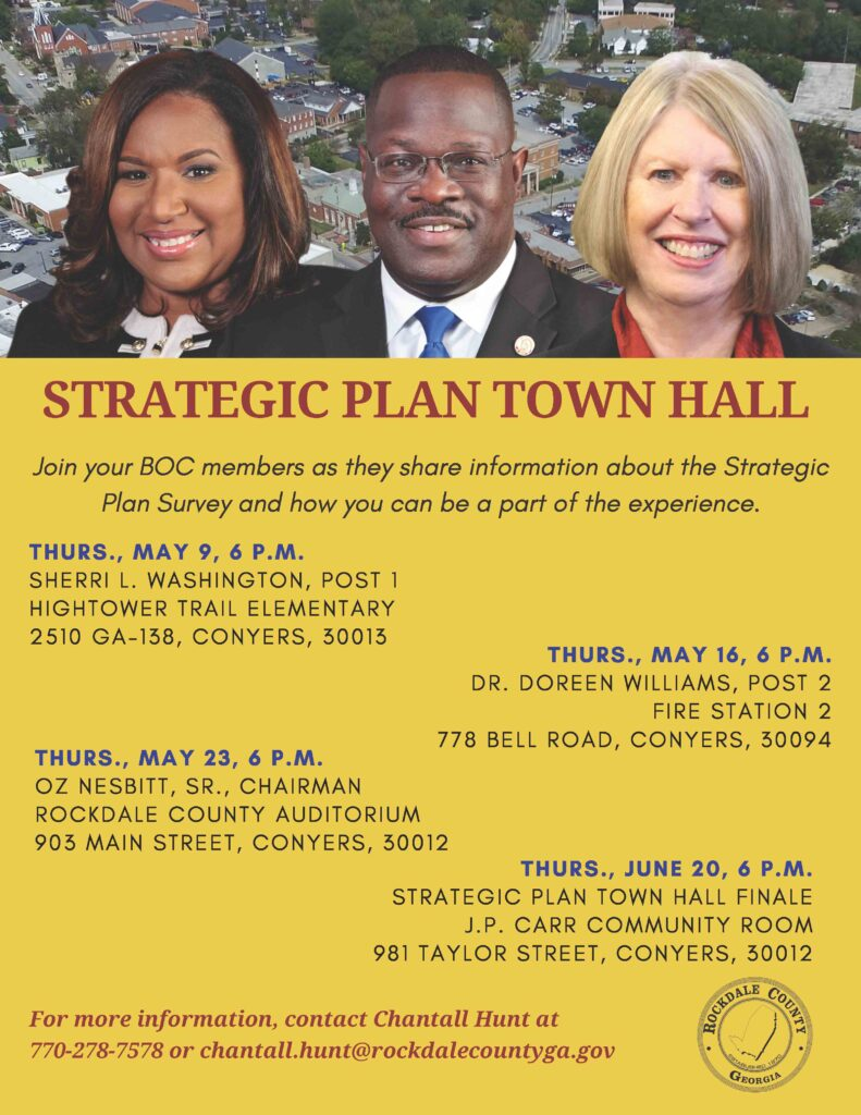 Strategic Plan Town Hall Meeting #3 @ Rockdale County Auditorium