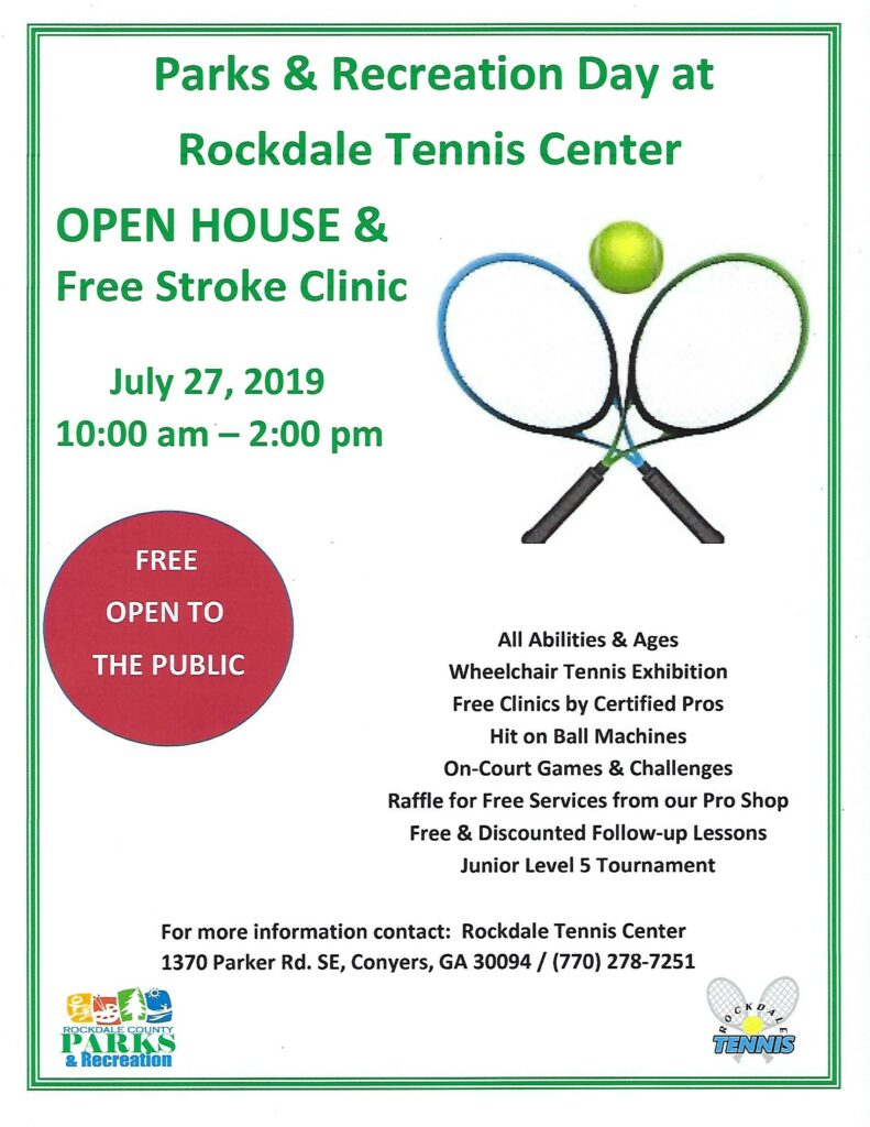Parks & Recreation Day at Rockdale Tennis Center @ Rockdale Tennis Center