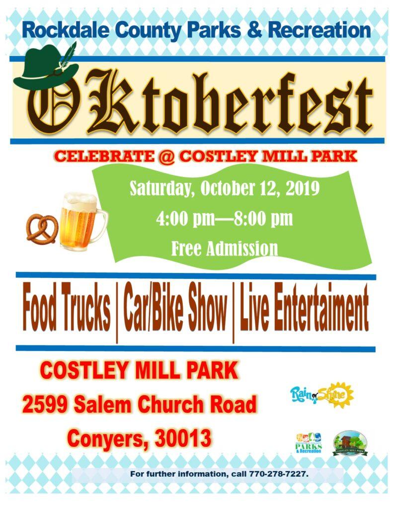 Oktoberfest at Costley Mill @ Costley Mill Park