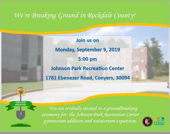 Johnson Park Rec Center Groundbreaking @ Johnson Park