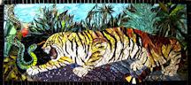 Agressive Tiger by Anne Bedel