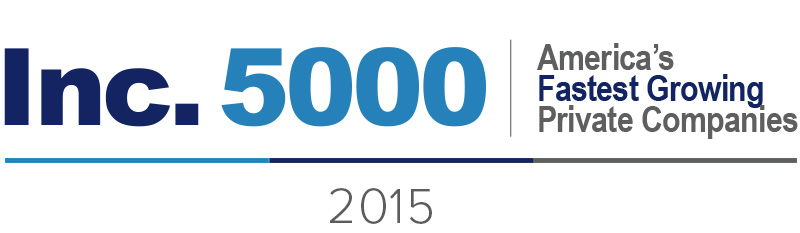 Logo for Inc.5000 fastest growing companies 2015