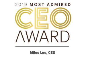 Logo for Most Admired CEO Award Logo Miles Lee