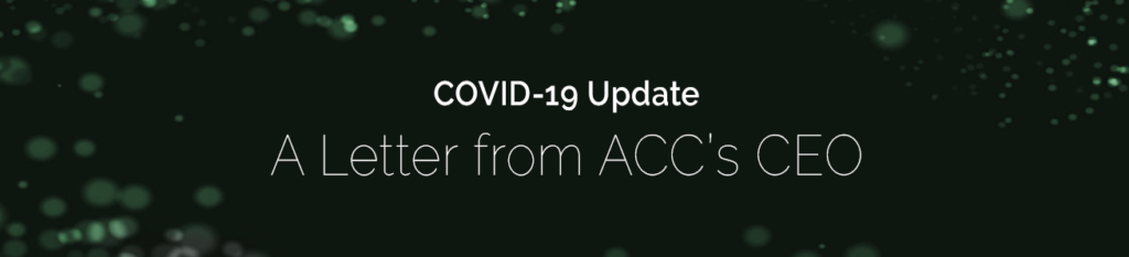 A Letter from ACC's CEO Regarding COVID-19 and indirect procurement categories