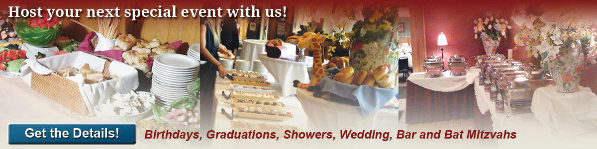 Functions and Special Events, Buffet Menus