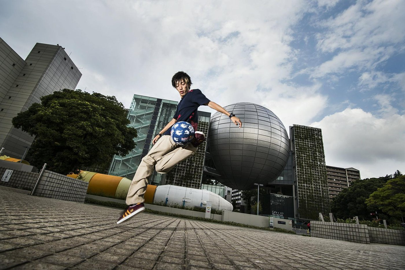Kotaro Tokuda performs prior to the Red Bull Street Style Japan Final 2014 at the Sirakawa park in Nagoya, Japan on September 5th, 2014 // Naoyuki Shibata/Red Bull Content Pool // P-20141002-00139 // Usage for editorial use only // Please go to www.redbullcontentpool.com for further information. //