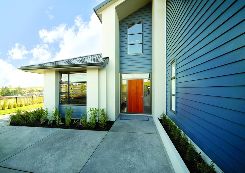 Artisan Modern Blue House Red Door
