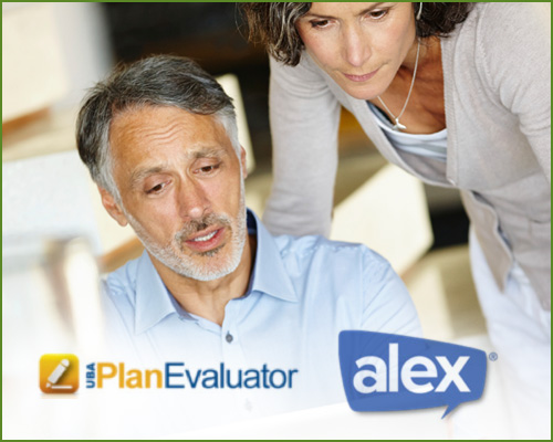 Online tool to evaluate benefit plan options