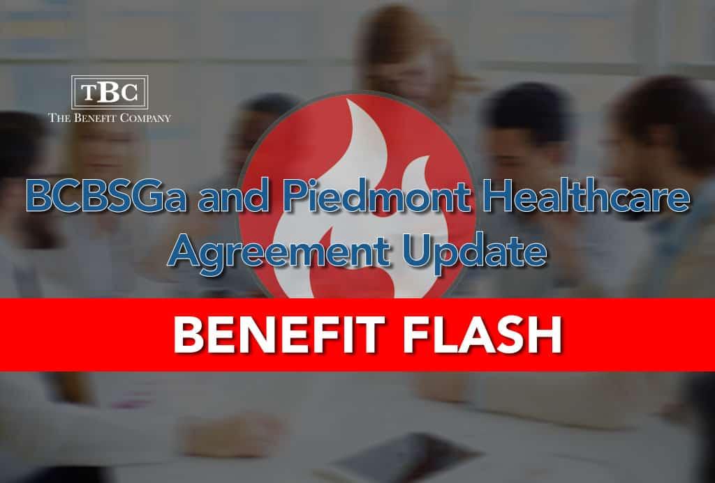 BCBSGa and Piedmont Healthcare Agreement Update