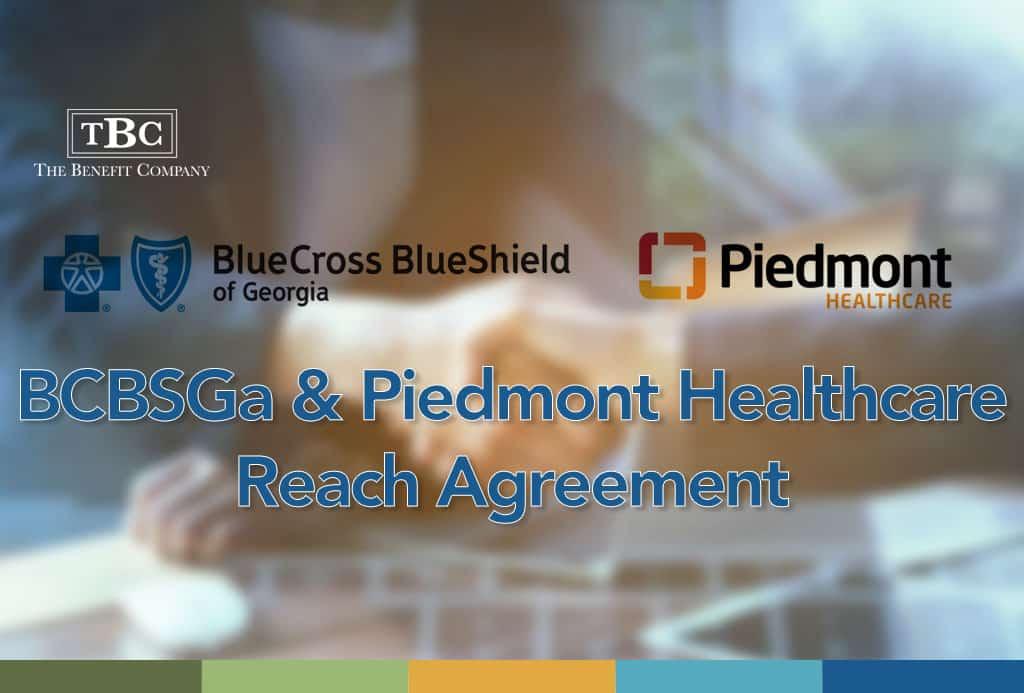 BCBSGa & Piedmont Healthcare Reach Agreement