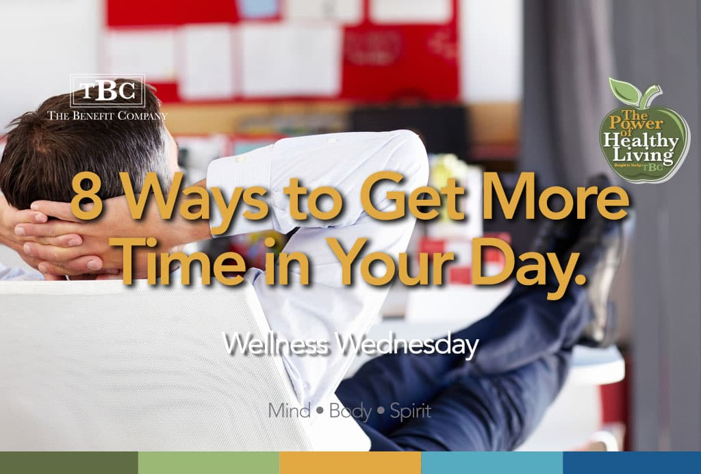 How to get more time in your day.