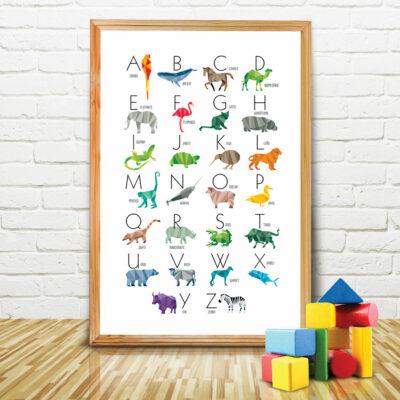 Poster Abecedário de Animais