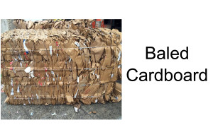 baled cardboard