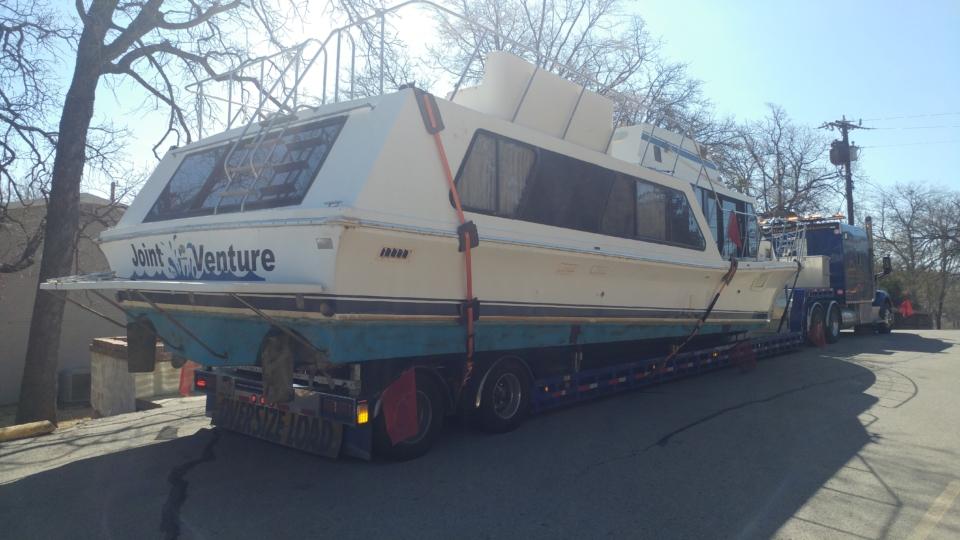 Bluewater cruiser boat transport