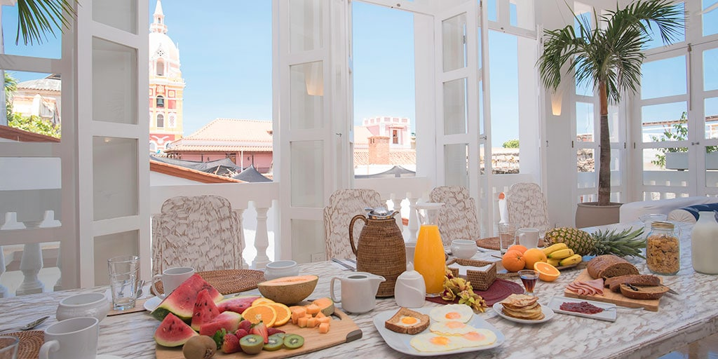 Cartagena Roof Top Breakfast View
