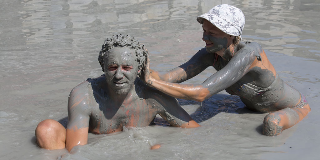 Mud Bath At Volcan Del Totumo