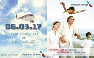 American Airlines Grand Junction to LA flights begin June 3, 2017