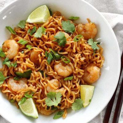 lime shirmp dragon noodles