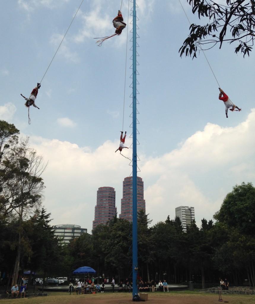 Toltec dancers air