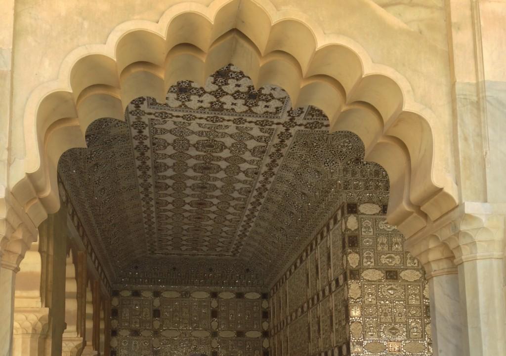 Elegant detail in the Amber Fort