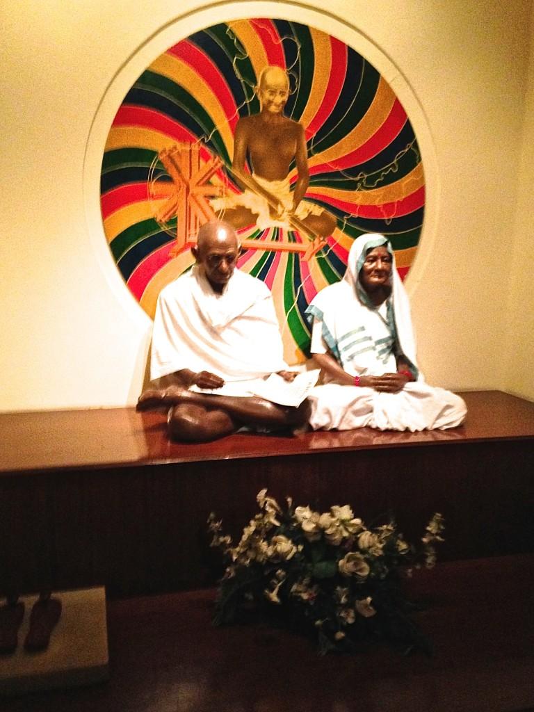 Ghandi and wife enshrined