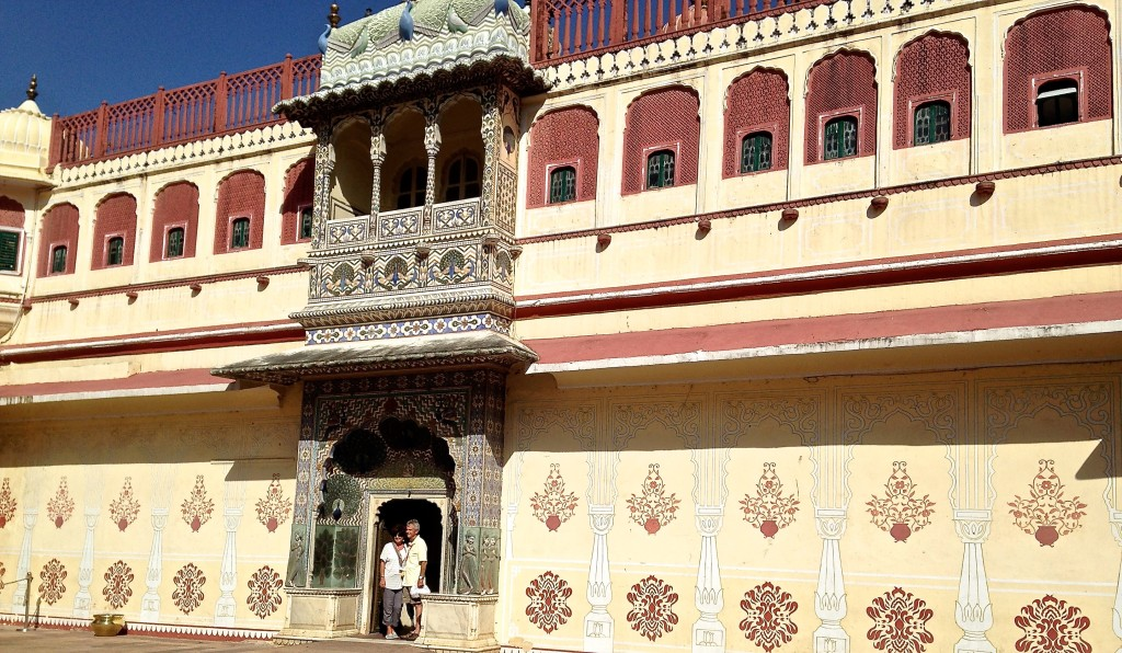 Interior Court of the City Palace in Jaipur