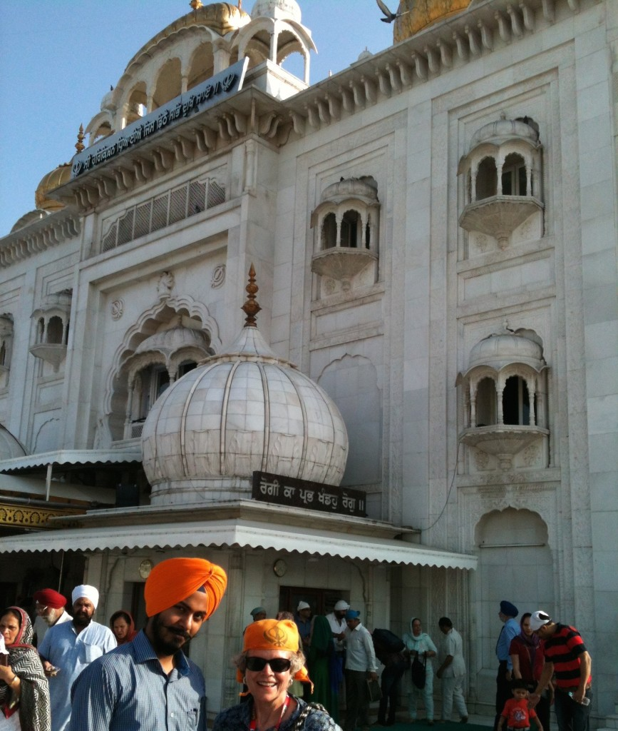 Orange scarf for Sikh temple