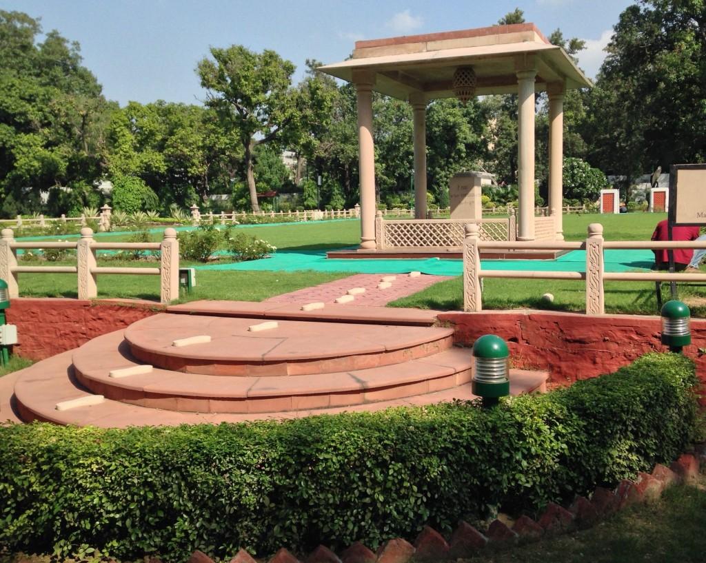Site of Gandhi's martyrdom