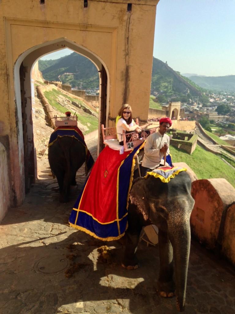 girl on elephant