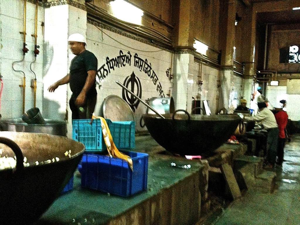 kitchen at Sikh temple