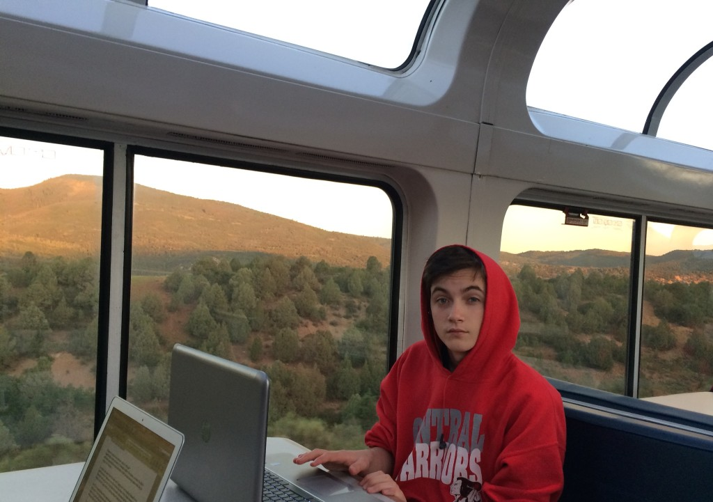 Working off-line in the Dome Car