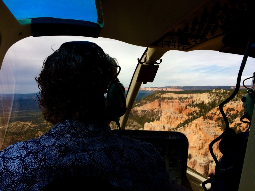 Elaine helicopter Bryce Canyon
