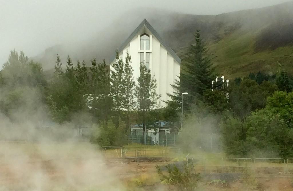 Steamy day in Hveragerdi