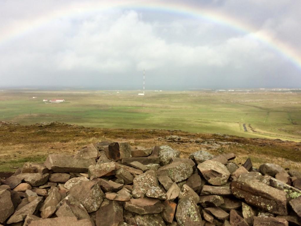 Rainbow over Helgafell