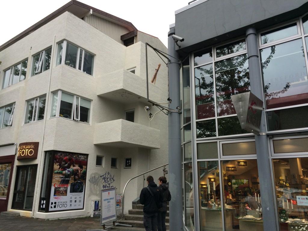 Store fronts of Reykjavik