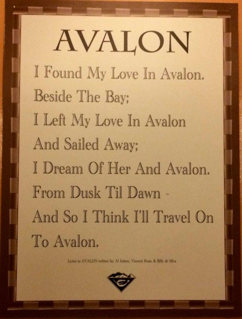 """""""Avalon"""" lyrics by Al Jolson"""
