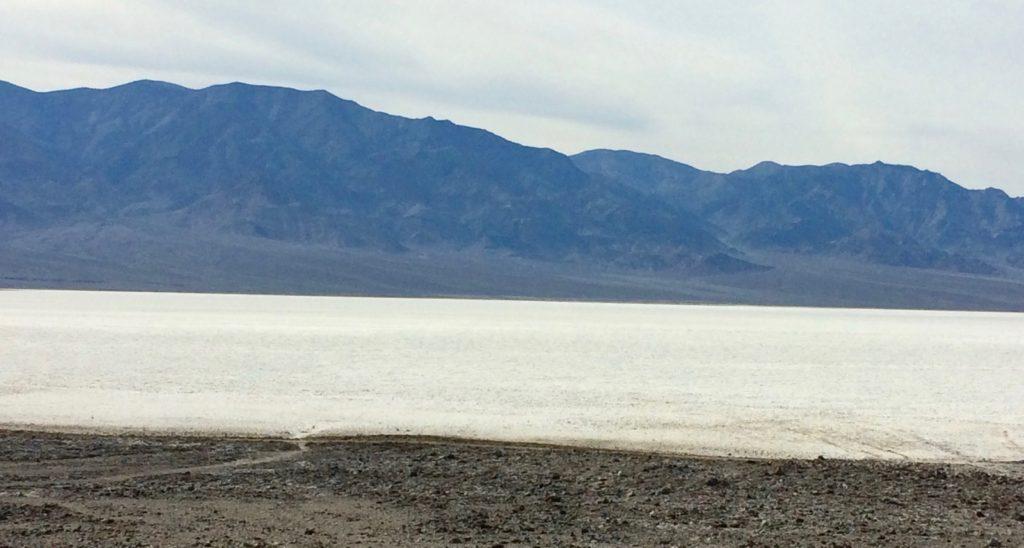 Badwater Basin beyond the boardwalk
