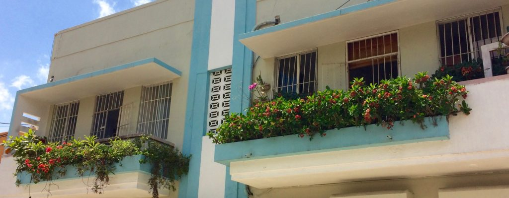 Colonial District balcony flower boxes