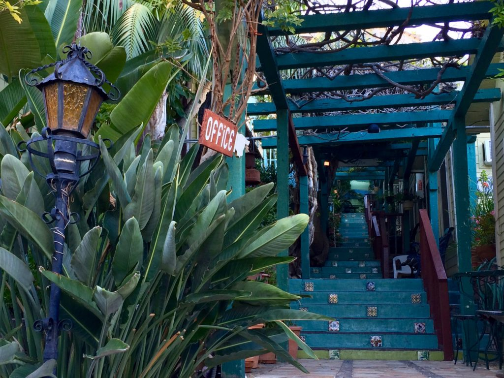 Entryway to La Paloma Los Flores