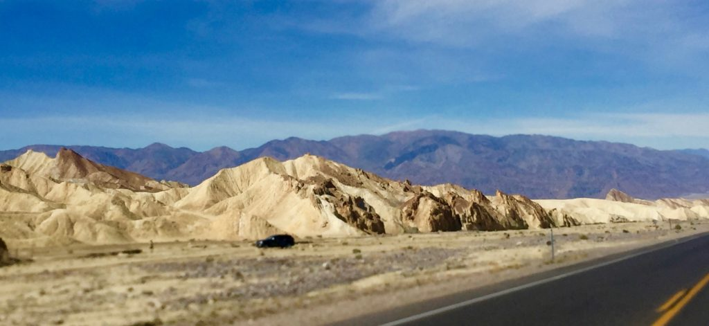 The approach to Death Valley