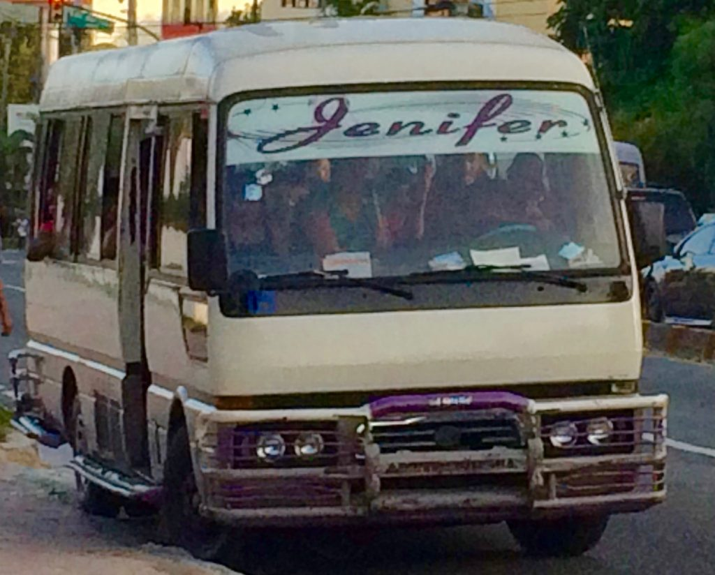 Jenifer is probably not the name of the bus route