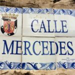 Tile street plaque - Calle Mercedes