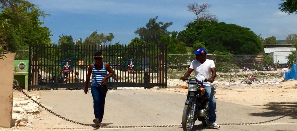 Haitian border crossing