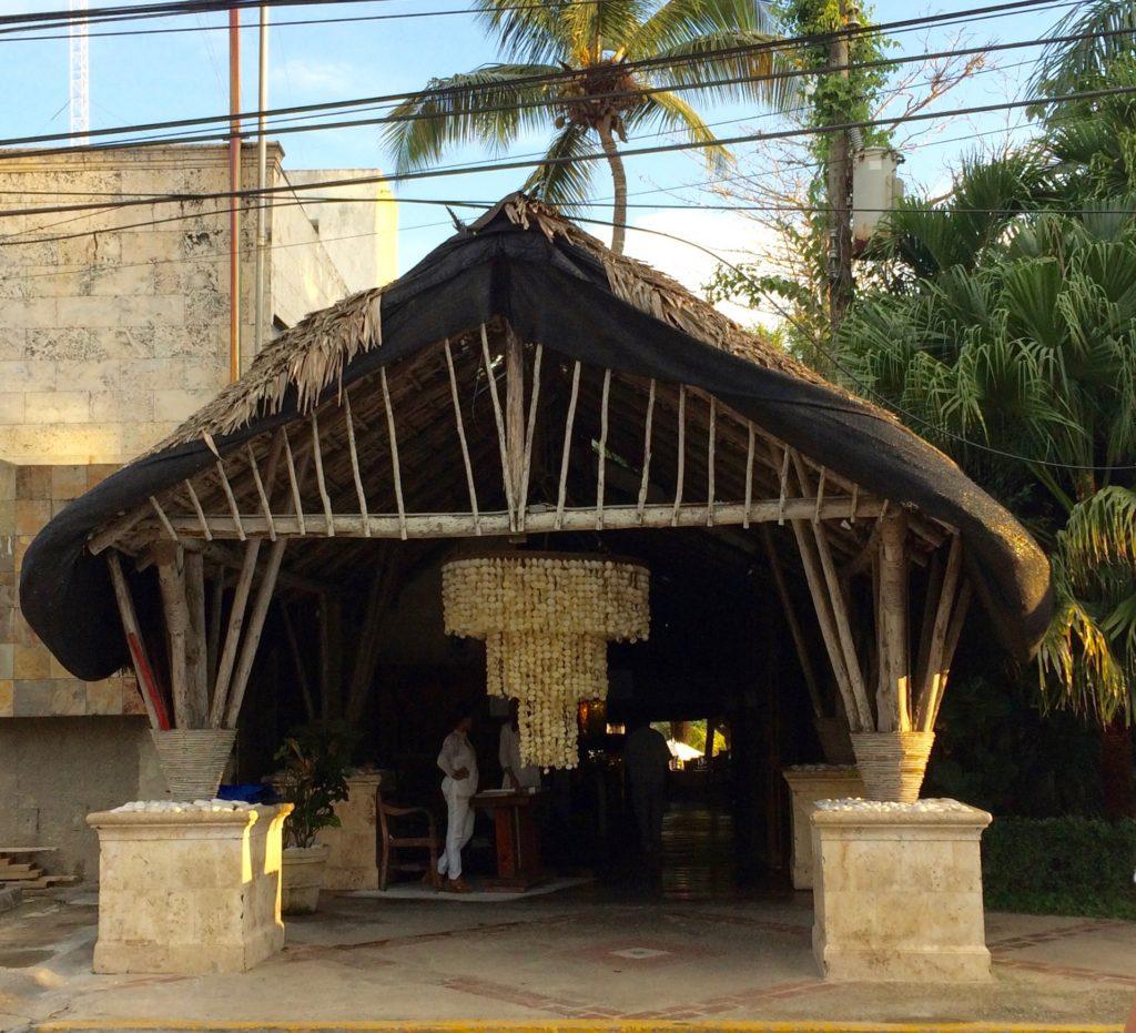 Entry to Boca Marina Restaurant in Boca Chica