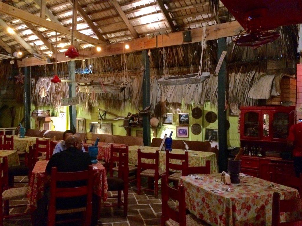 Interior of El Conuco Restaurant