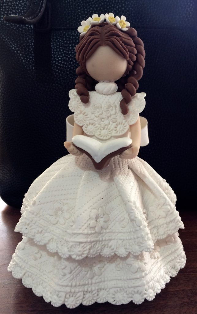 Singer doll in white - front